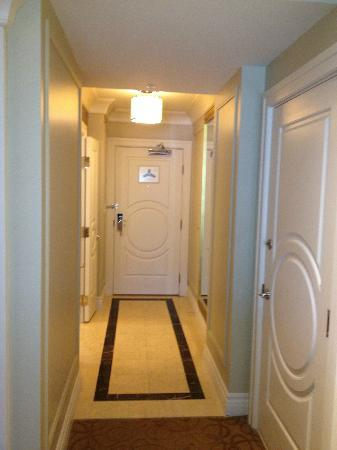 The Palazzo Resort Hotel Casino: Yeah...there was a hallway in our room!