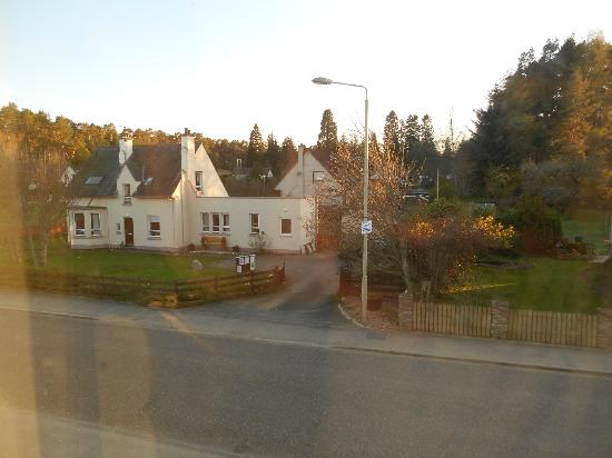 View from room at Cairn Hotel, Carrbridge