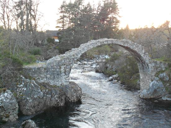 Cairn Hotel: Historic bridge at Carrbridge