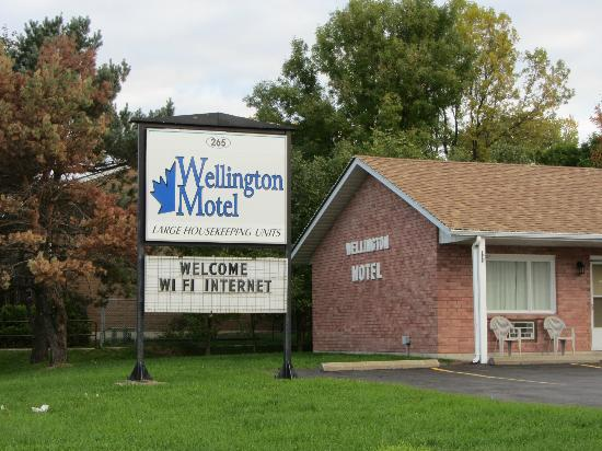 Wellington Motel: Street sign