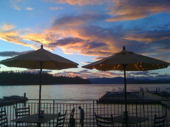 Coolin, ID: View from our lakeside restaurant