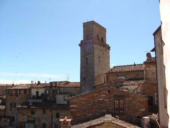 Fabio Apartments San Gimignano: View from one of the bedroom windows