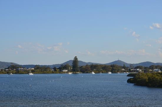 Tea Gardens Boatshed: View from The Boatshed