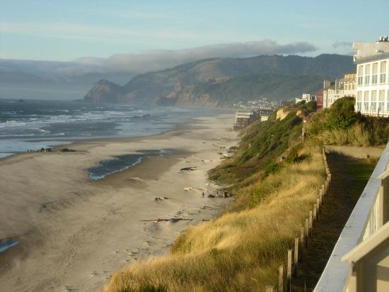 The Coho Oceanfront Lodge: Beautiful view to North