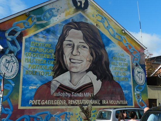 Peace line west belfast picture of belfast mural tours for Bobby sands mural