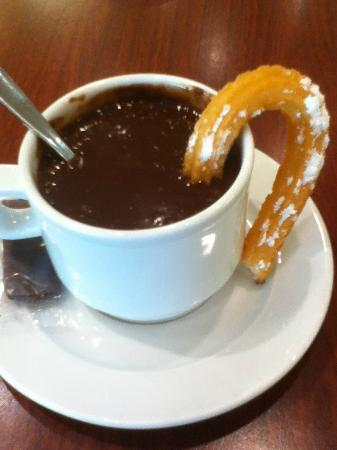 Ibis Barcelona Meridiana: Hot Chocolate and Churros from El Corte Ingles ( Hot chocolate is not on the menu, just ask for