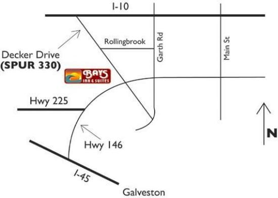 Bays Inn & Suites Baytown: Map