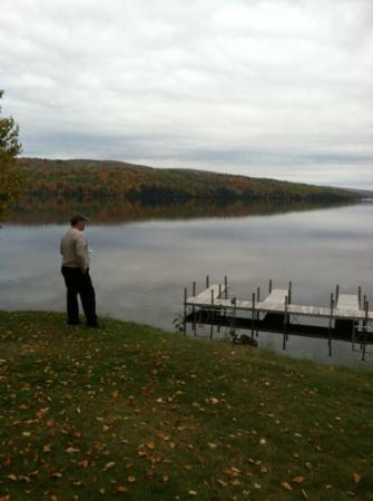 Loon Lodge Inn &amp; Restaurant: beautiful morning with a cup of Joe