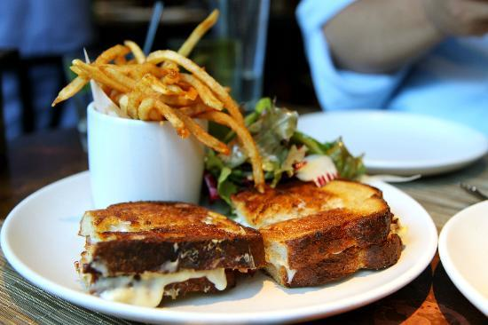 PRINT: Grilled fontina cheese sandwich, bacon, apple chutney, green ...