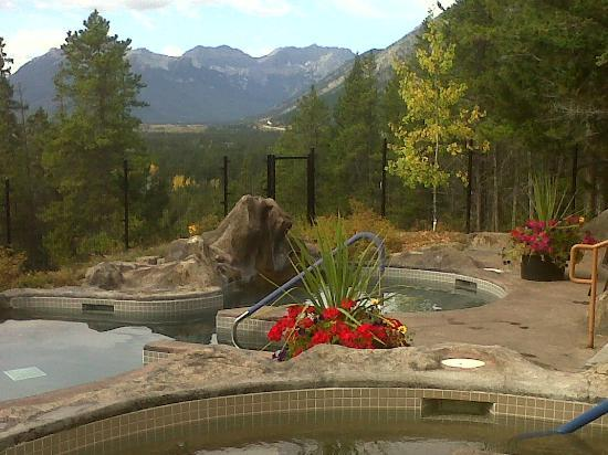 View from hot pools at Hidden Ridge Resort