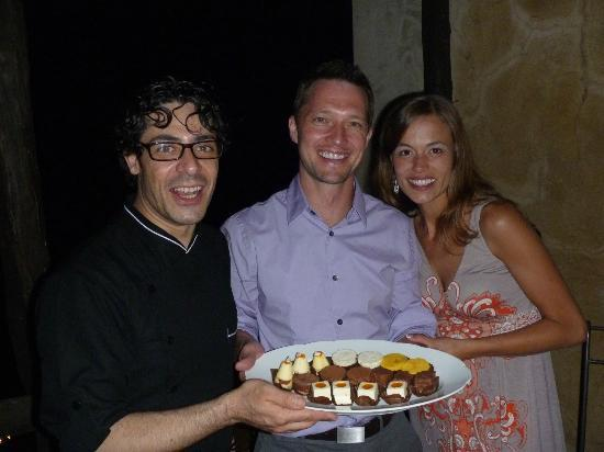 Dolceria dell'Antico Portico: Here we are with Chef Tiziano after an amazing dinner prepared for our group of 11 at our villa.