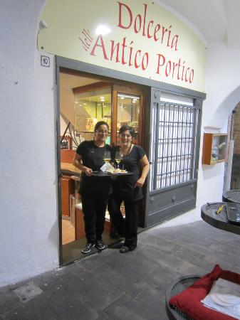 Dolceria dell'Antico Portico: Owner and Staff, So Kind and Proud of their store