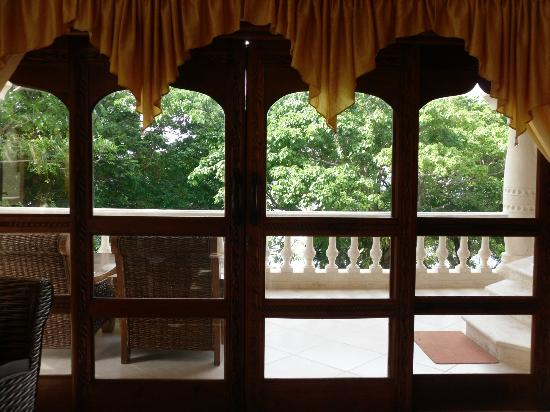The Palace at Playa Grande: View from our room, obstructed by the trees, but never in the room, could enjoy view from patio