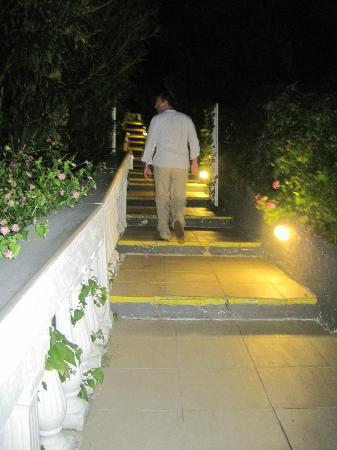 Aquis Agios Gordios Beach Hotel: Steps