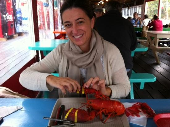 Kittery Point, เมน: I don't think she is going to share - great lobster!