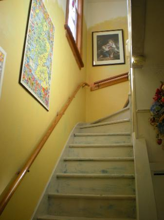 Marigold Bed & Breakfast: Stairwell leading upstairs to rooms