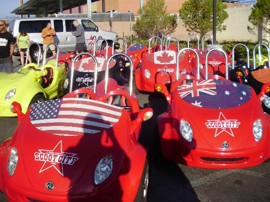 Scoot City Tours: cute little cars ready to go