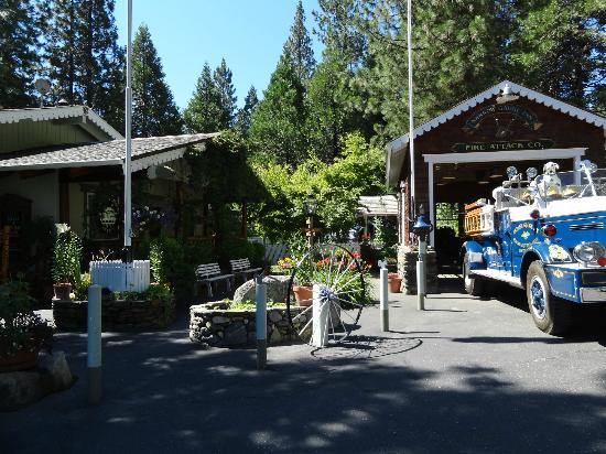 With their own vintage firetruck picture of narrow gauge for Fish camp ca hotels