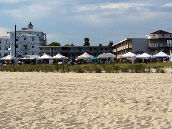 Avondale by the Sea: Looking back at the hotel from the beach