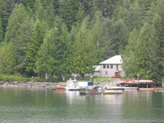Barkley Sound, Canada: The lodge coming into it.