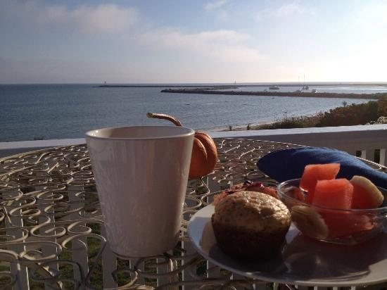 Avonlea, Jewel of the Sea: Breakfast on the porch - I wish I could start every day like this!
