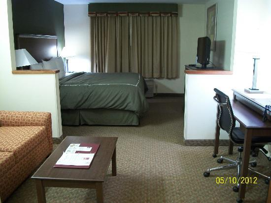 Comfort Suites: View from door