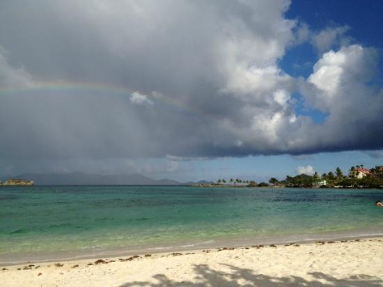 Crystal Cove Beach Resort on Sapphire Bay: Rainbow!! It was gorgeous!