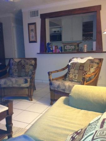 Crystal Cove Beach Resort on Sapphire Bay: Large den area Crystal Cove D28 VRBO# 334452