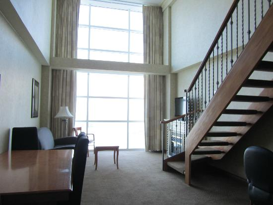 Picture Of Half The Room And Window Marriott Niagara Falls Gateway On The Falls Hotel