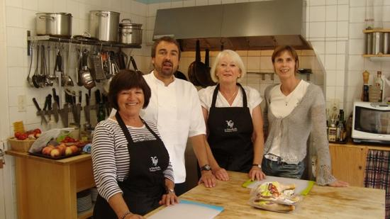 Le Chevrefeuille Bed and Breakfast: our cooking course with Ian