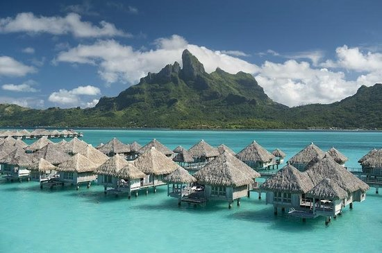 The St. Regis Bora Bora Resort: Aerial photo