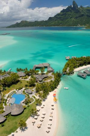 The St. Regis Bora Bora Resort: Overhead Aerial photo