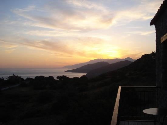 Agia Paraskevi, Hellas: Sunset from the balcony