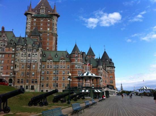 Chateau de la Terrasse Dufferin: View of Chateau Frontenac from Terrasse Dufferin