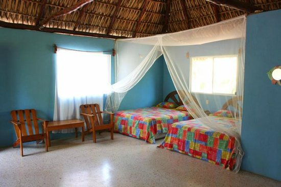 Hotel Cafe Del Sol: A big naturaly ventilated room for 4 to 6 persons.