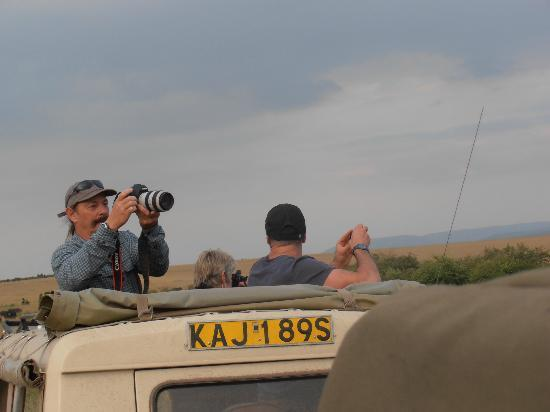 Mara Eden Safari Camp: David from our Group. The serious photographer
