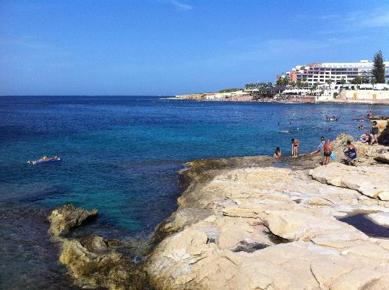 Beach 100 Meters From Apartment Picture Of Shamrock Apartments Bugibba Tripadvisor