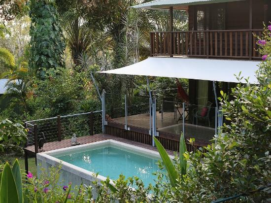 Papillon Bed & Breakfast: The grounds and the swimming pool