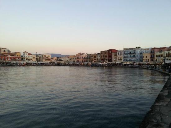Chania Crete - a view of the old Venetian harbor - Picture ...