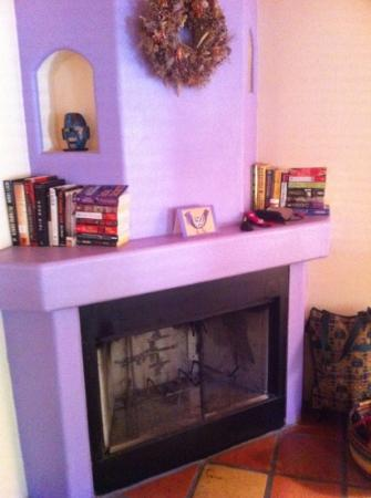 Burch Street Casitas: fireplace in casita C