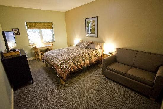 Adventure Inn: queen room/sofa sleeper/wheel chair friendly