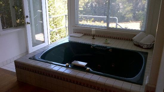 Belle de Jour Inn: The huge in room jacuzzi