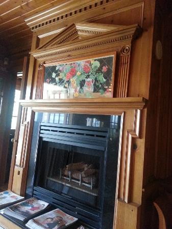 Beautiful fireplace in common area Inn on Summerhill