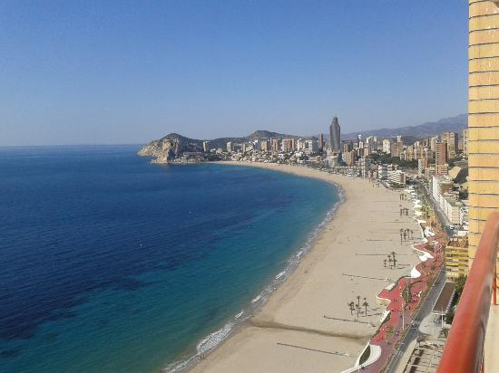 View along Poniente Beach - Picture of Hotel Condestable, Benidorm - TripAdvisor