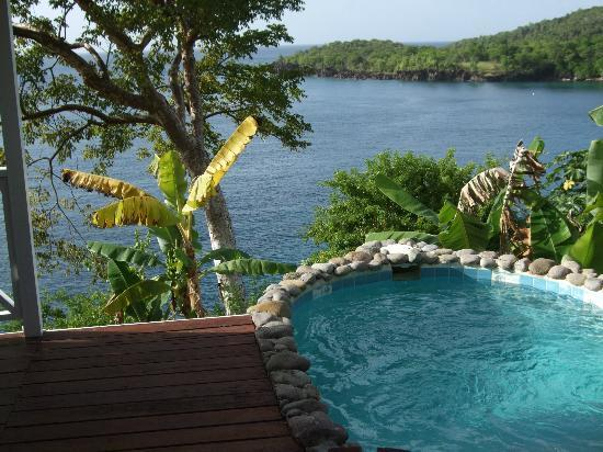 Ti Kaye Resort & Spa: Private pool and view