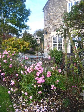 Cold Aston, UK: Rose garden and patio.