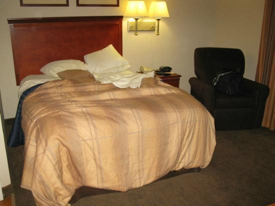 Candlewood Suites Hot Springs : The comfortable queen size bed...