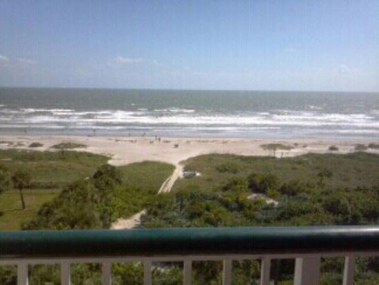 Resort on Cocoa Beach: the view from my room on the seventh floor
