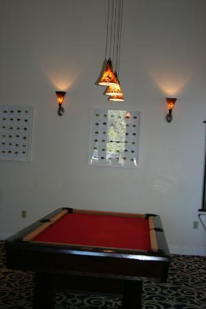 The Mansion on Delaware Avenue: Pool table in main area