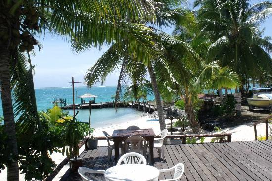 Asau, Samoa: View from dining area